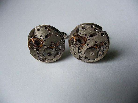 spinki zegar mechanizm rubiny unikat jedyne duże
