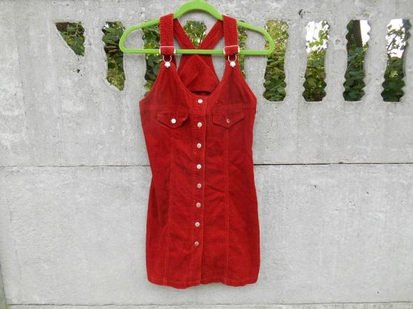 sukienka 152 158 na 12 13 lat sztruksowa jesienny
