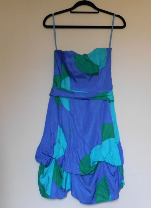 Coast sukienka jedwab niebieska 36 38...
