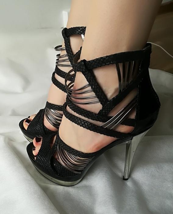 Top Shoe sandały szpilka paseczki platforma 38