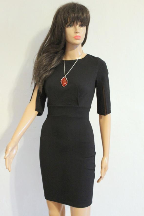 Biurowa dopasowana elegancka sukienka mała czarna r S...
