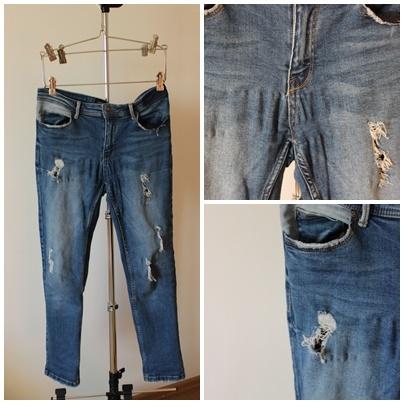 Spodnie jeans dziury re