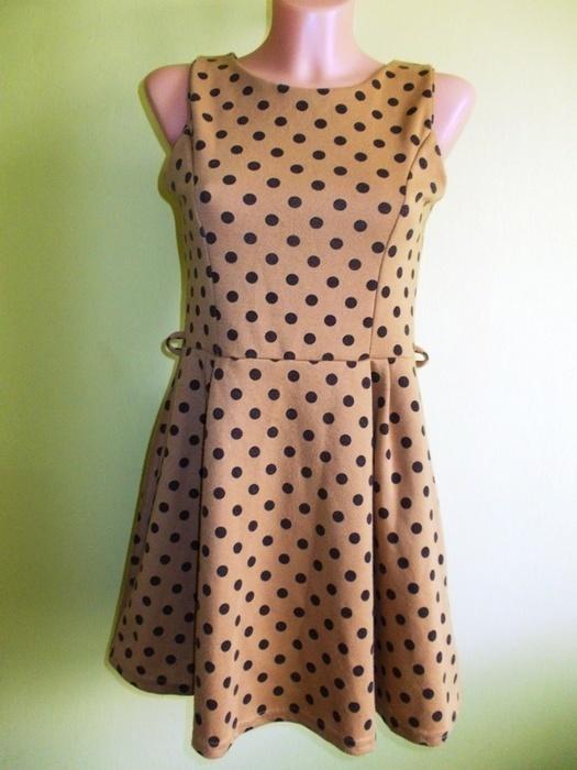Sukienka rozkloszowana w grochy MISO 38 40...