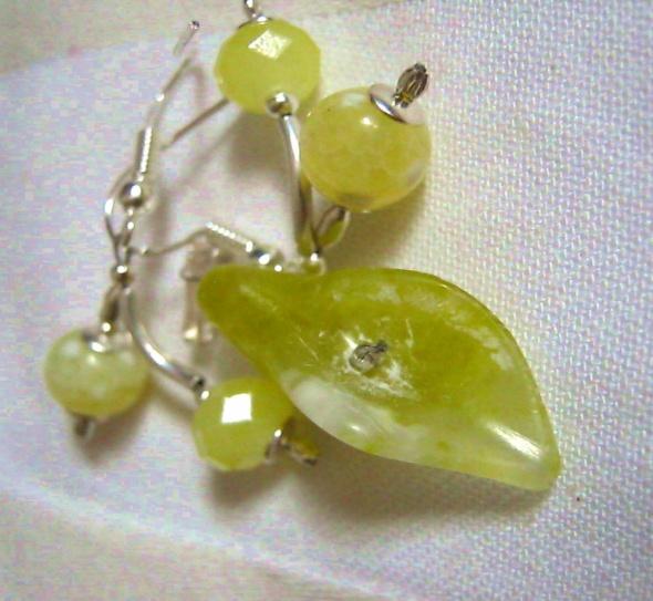 Jadeit i agat Delikatny zestaw w srebrze
