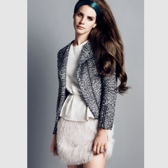 H&M spódniczka fluffy lana del rey