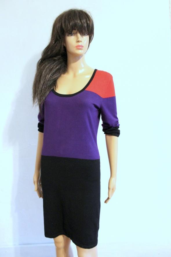 Długi sweter tunika sukienka dzianinowa r S...