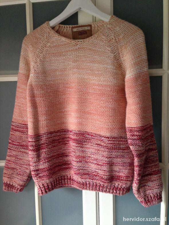 różowy ciepły sweter z bershki