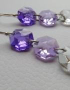 Kolczyki z kryształkami SWAROVSKIEGO srebrne bigle