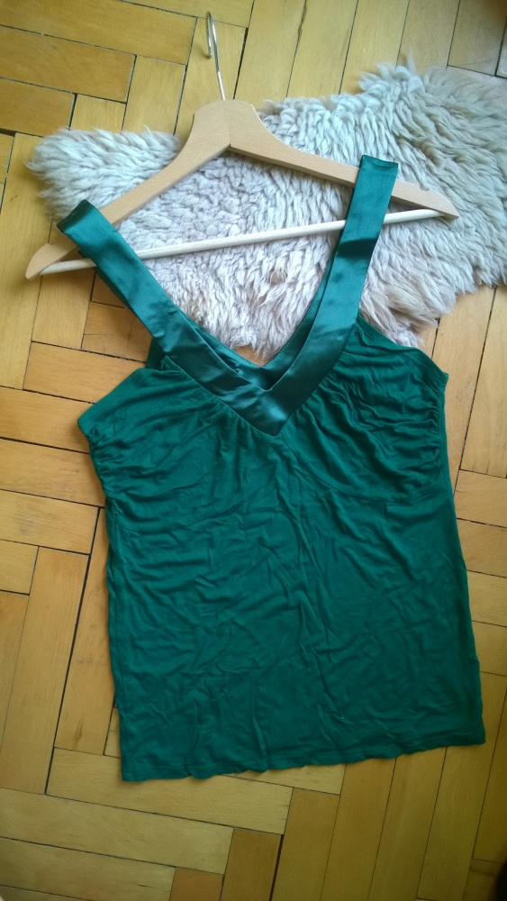 Koszula bluzka dekolt na plecach elegancka zielona...