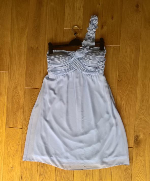 Błękitna baby blue sukienka Esprit kwiatki nowa...