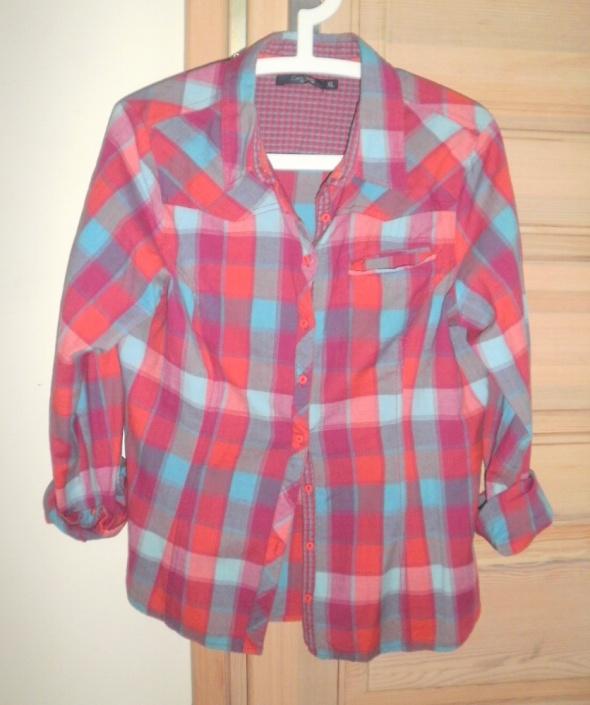 Carry koszula w kratę kratka czerwona grunge...