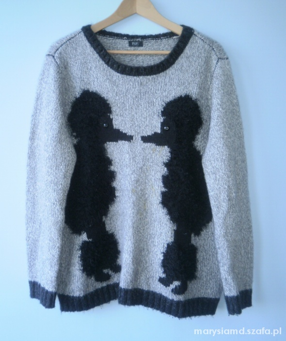 FF sweter fluffy pudle pieski