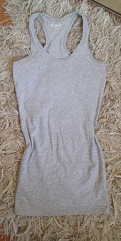 Szara bokserka długa long tunika sukienka basic Cubus...