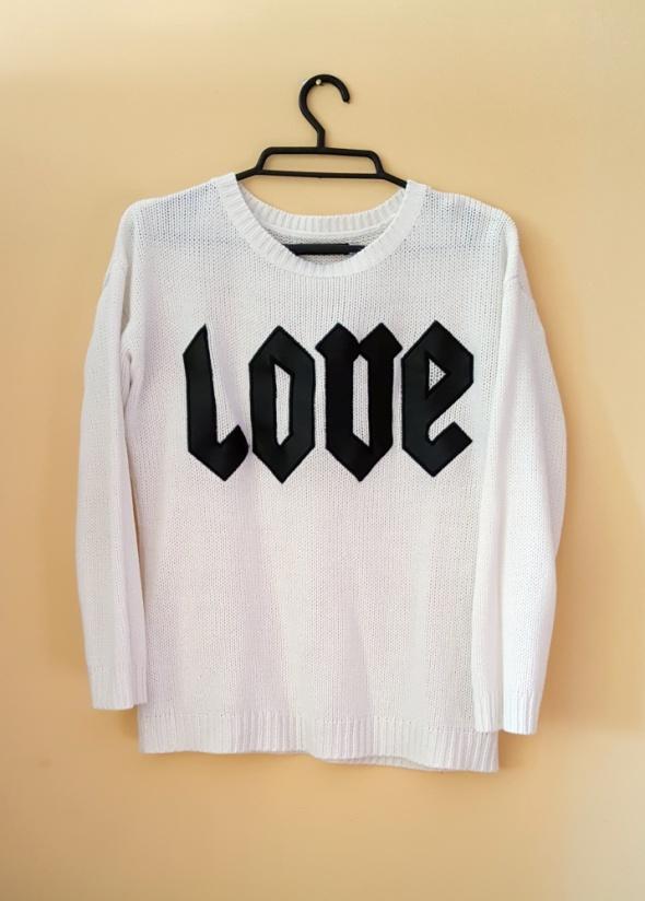 Sweter Love eko skóra