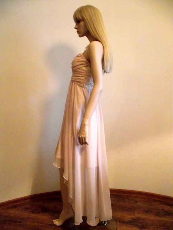 9d495d827f ASYMETRYCZNA SUKIENKA NA STUDNIÓWKĘ WESELE w Suknie i sukienki ...