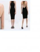 sukienka zara knit 38 M nowa łańcuszek bez pleców czarna...