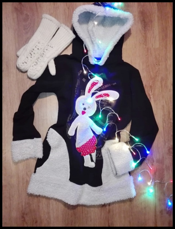 Cieplutka bluza królik