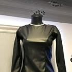 Czarna skórkowa taliowana bluzka roz 36 i 38