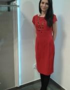 Czerwona prosta sukienka roz 36