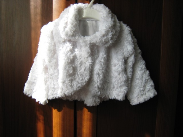 futerko bolerko białe 74 80 chrzest