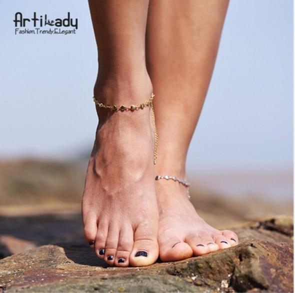 Bransoletka na stopę kostka nowa