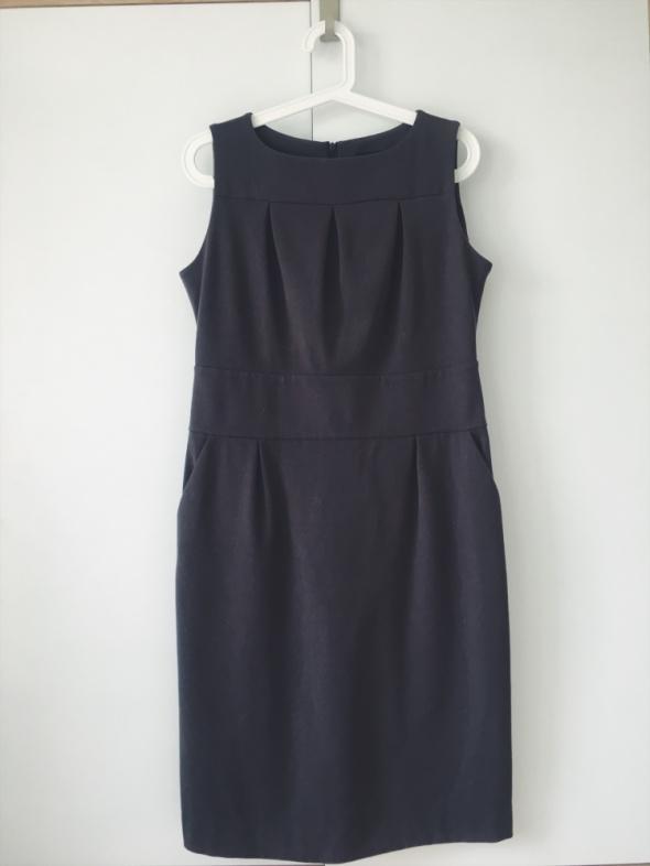 ECHO szara sukienka prosta elegancka biurowa 42...