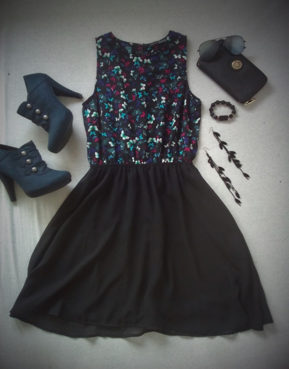 super sukienka w motyle ATMOSPHERE