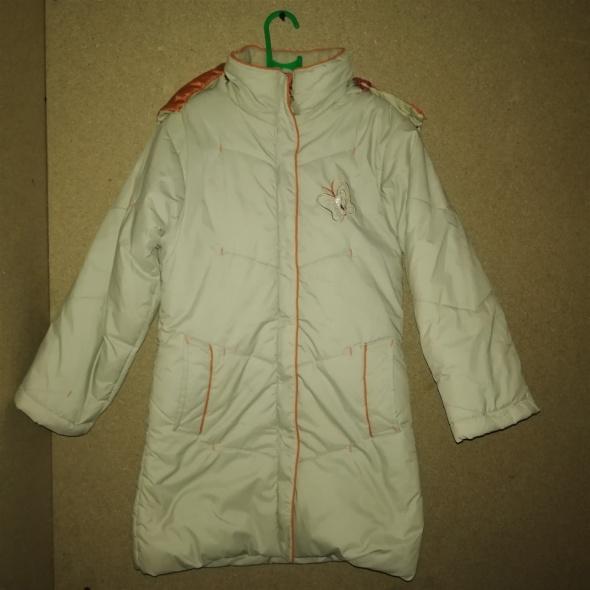 Beżowa zimowa kurtka płaszczyk 116 cm 5 6 lat