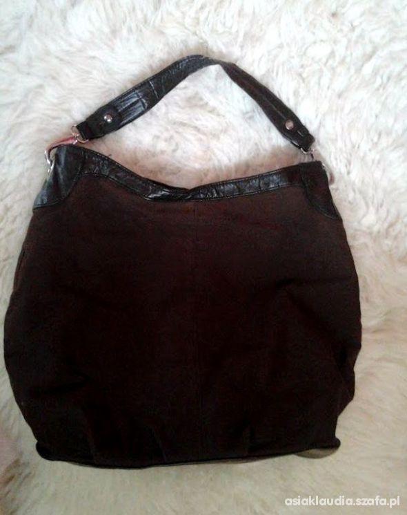 Czekoladowo brązowa torba H&M