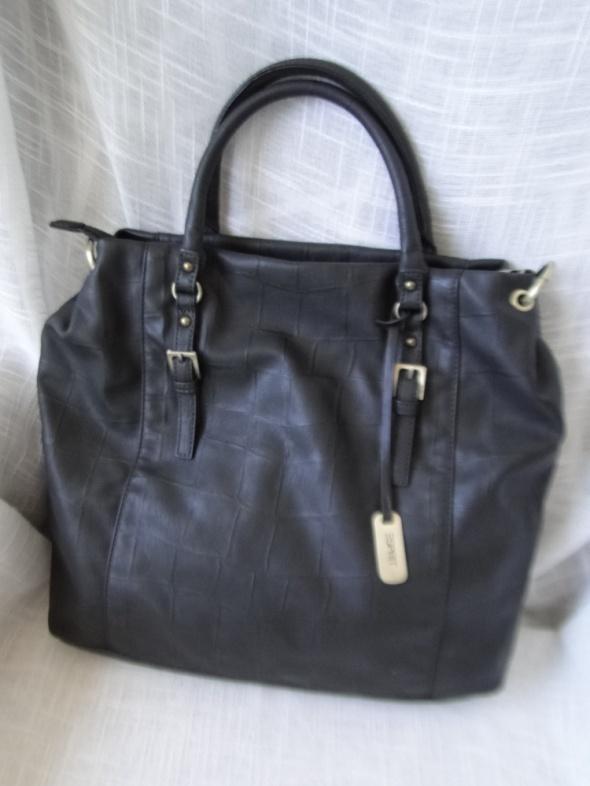 Piękna i właściwie nowa torba Esprit stalowozielona mieści A4...