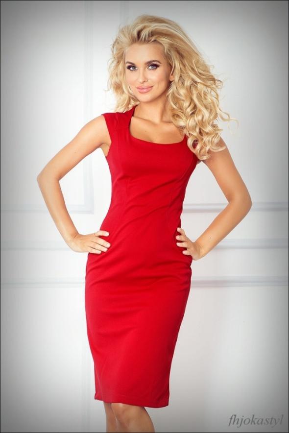 24ecc348e9 Ołówkowa czerwona sukienka XL 42 MIDI w Suknie i sukienki - Szafa.pl