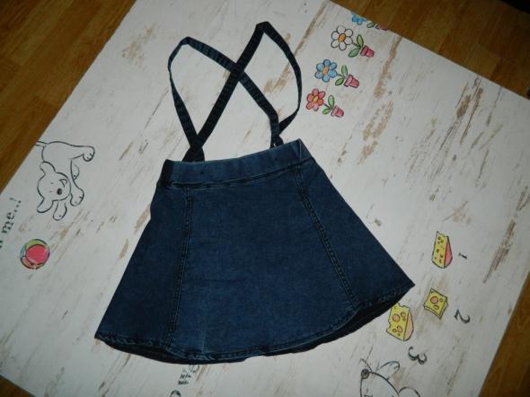 Jeansowa spódniczka szelki roz 10 11 lat