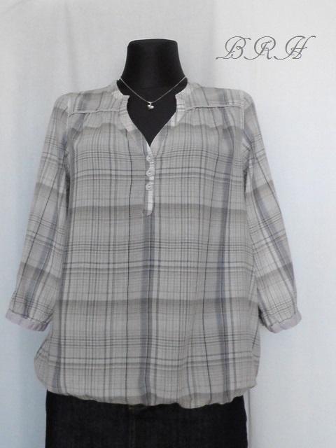 Bluzki bluzka tunika w kratę