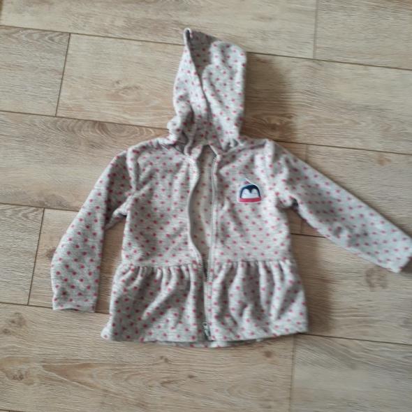 Polarowa szara bluza dla dziewczynki roz 86