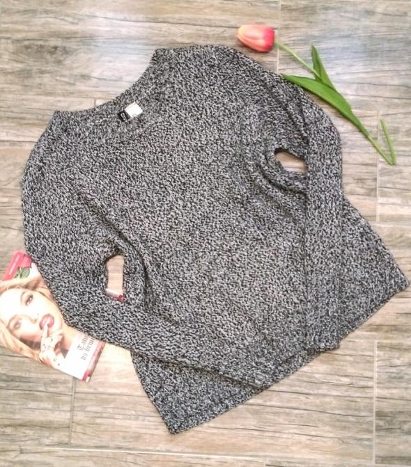 H&M szary sweterek melanżowy S 36