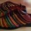 Sandałki rzymianki gladiatorki kolorowe paski