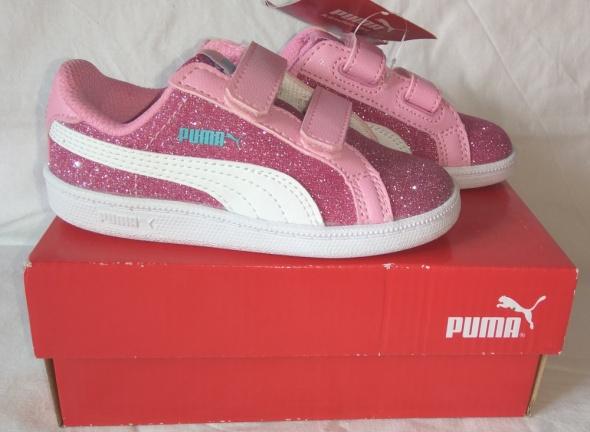 Nowe różowe brokatowe adidasy Puma Smash Glitz Glamm v Inf 23