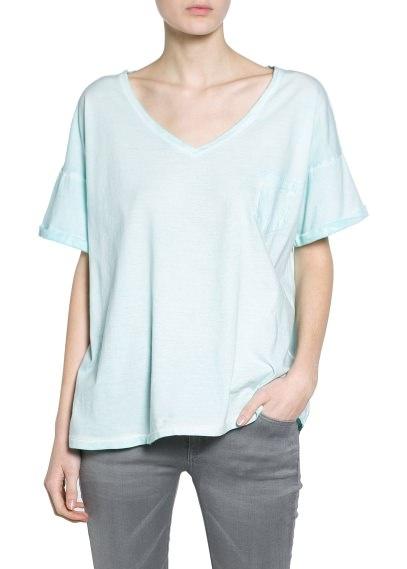 Nowa marmurkowa koszulka Mango oversize 34