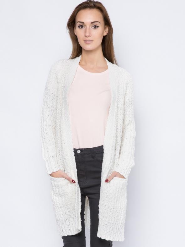 Gruby sweter kardigan baranek