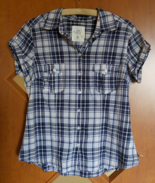 H&M niebieska koszulka w kratkę