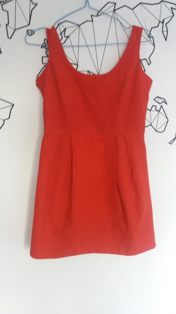 Suknie i sukienki CZERWONA SUKIENKA CUBUS 36 S