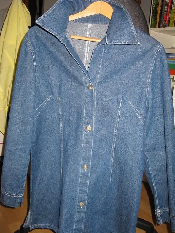 Płaszcz kurtka jeansowa S