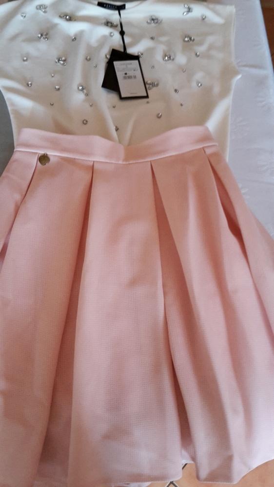 Spódnice Pudrowa spodniczka