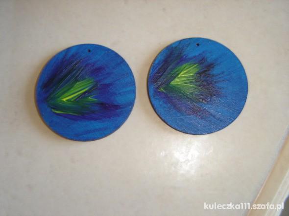 Ręcznie malowane kolczyki...