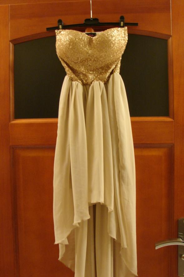 Suknie i sukienki Piękna złota sukienka