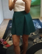 Spódnica spódniczka zielona rozkloszowana mohito butelkowa ziel...