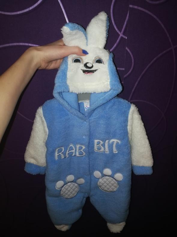 Kombinezony Kombinezon pajacyk królik króliczek niebieski biały hit nowy 62 cm
