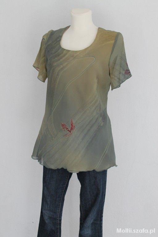 Bluzki dłuższa zielona bluzka