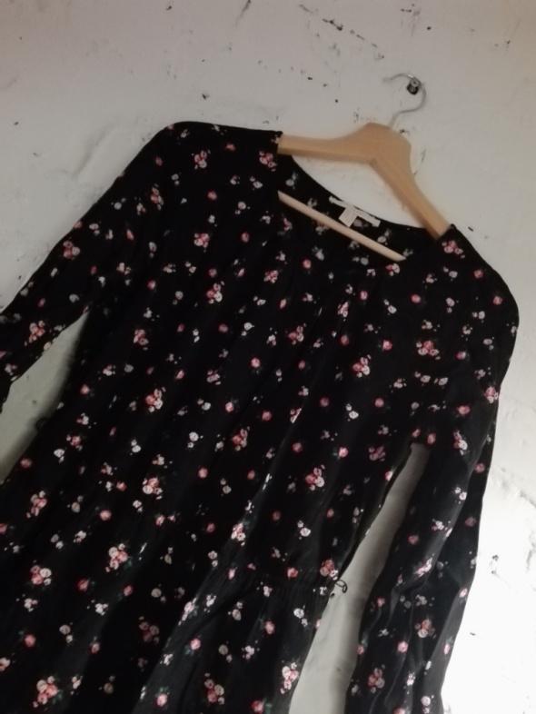 Springfield czarna sukienka kwiaty kwiatuszki M 38...