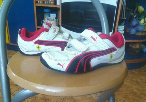 Buty Pumy 33 biało czerwone